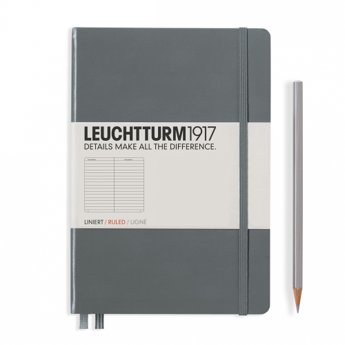 Leuchtturm1917 Notebook - Ruled, A5, Anthracite | Leuchtturm1917 | Paperpoint Stationery South Melbourne