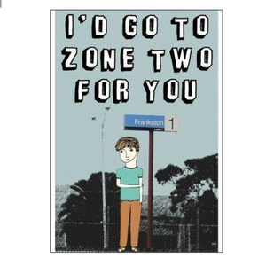 Able & Game Greeting Card - Go To Zone 2