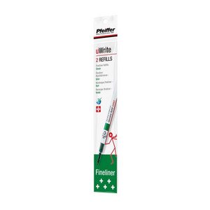 Pfeiffer uWrite Fineliner Refill - Green | Pfeiffer | Paperpoint Stationery South Melbourne