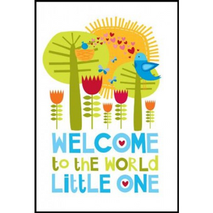 Little Red Owl Gift Card - Welcome Boy | Little Red Owl | Paperpoint Stationery South Melbourne