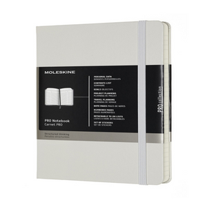 Moleskine Professional Hard Cover Notebook - Ruled, Large, Pearl Grey | Moleskine | Paperpoint Stationery South Melbourne