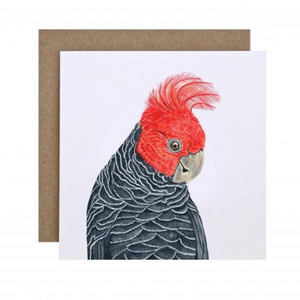 Gigi the Gang Gang Cockatoo Greeting Card | For Me By Dee | Paperpoint Stationery South Melbourne