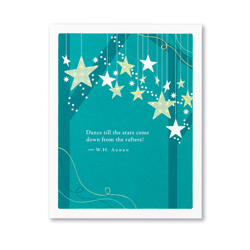 Positively Green Greeting Card - Dance till the stars come down...