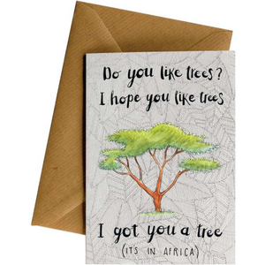 Little Difference Greeting Card - I Got You A Tree