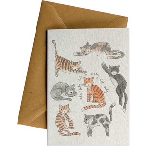 Little Difference Greeting Card - Crazy Cats