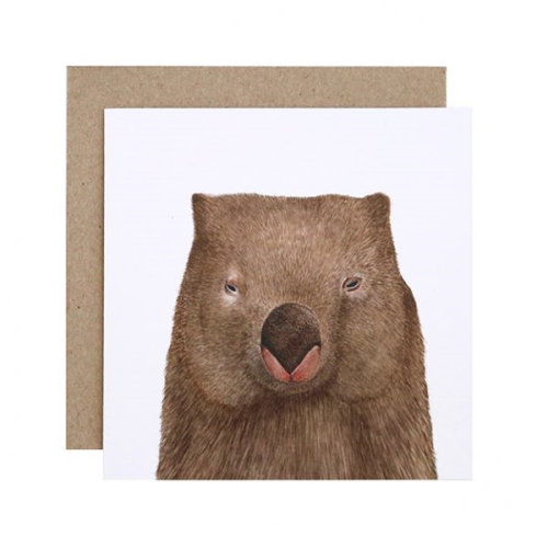 Winston the Wombat Greeting Card | For Me By Dee | Paperpoint Stationery South Melbourne