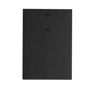 Button & String Envelope - C5 (162 x 229mm), Black/Black B&S | Button & String | Paperpoint Stationery South Melbourne