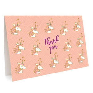 Night Owl Thank You Card Set - Unicorns | Night Owl | Paperpoint Stationery South Melbourne