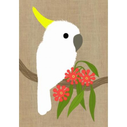 Gillian Mary Greeting Card - Super Cute Cockatoo | Gillian Mary | Paperpoint Stationery South Melbourne