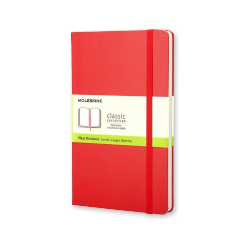 Moleskine Hard Cover Notebook - Plain, Large, Scarlet Red | Moleskine | Paperpoint Stationery South Melbourne