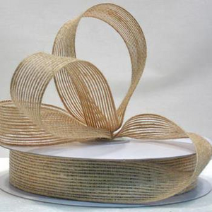 Ribbon: 25mm Jute - Natural (per metre)