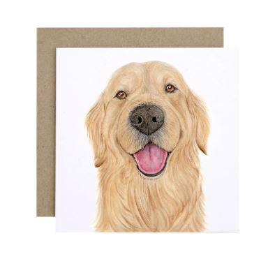 For Me BY Dee Greeting Card - Sid the Golden Retriever