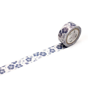 MT Tape Single Pearl Roll - Hibiscus Navy Blue