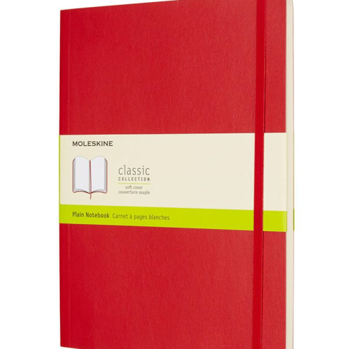 Moleskine Soft Cover Notebook - Plain, Extra Large, Scarlet Red | Moleskine | Paperpoint Stationery South Melbourne