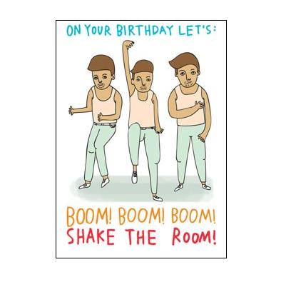 Able & Game Greeting Card - Boom! Shake Room! Birthday