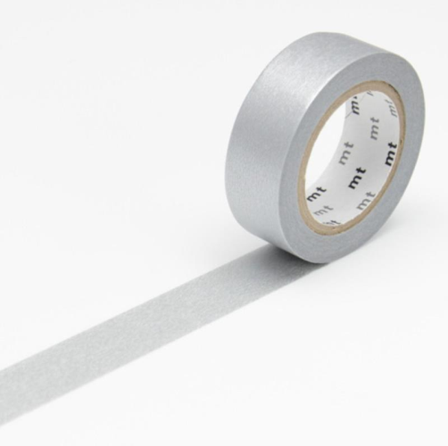 MT Tape Single Roll - Colour Block Silver | MT | Paperpoint Stationery South Melbourne