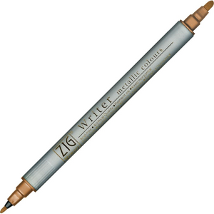 Kuretake Zig Writer Dual Tip Metallic Marker - Copper | Zig | Paperpoint Stationery South Melbourne