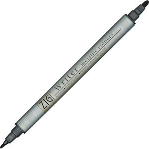 Kuretake Zig Writer Dual Tip Metallic Marker - Black | Zig | Paperpoint Stationery South Melbourne