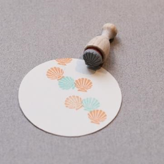 Perlenfischer Mini Cone Stamp - Shell | Perlenfischer | Paperpoint Stationery South Melbourne