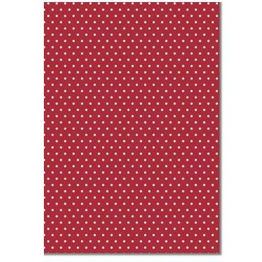 A4 (210x297mm) Patterned Paper: Metallic Silver Dots on Red 120gsm | I-Paper | Paperpoint Stationery South Melbourne