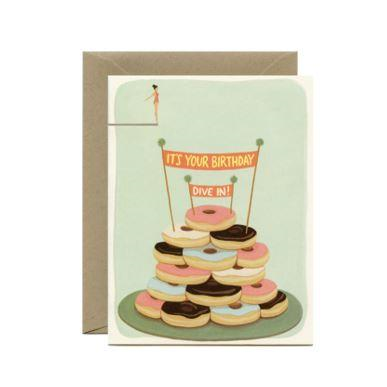 Yeppie Paper Greeting Card - Donut Diver