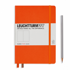 Leuchtturm1917 Notebook - Plain, A5, Orange | Leuchtturm1917 | Paperpoint Stationery South Melbourne