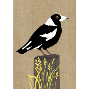 Gillian Mary Greeting Card -  Super Cute Magpie | Gillian Mary | Paperpoint Stationery South Melbourne