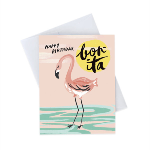 Idlewild Greeting Card - Flamingo Birthday