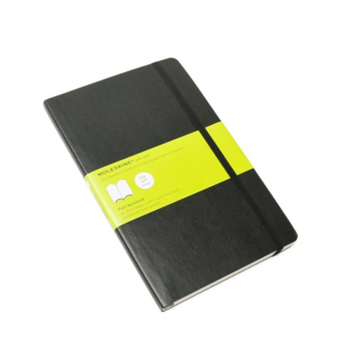 Moleskine Soft Cover Notebook - Plain, Large, Black | Moleskine | Paperpoint Stationery South Melbourne