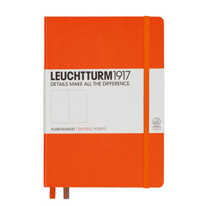 Leuchtturm1917 Notebook - Dotted, A5, Orange | Leuchtturm1917 | Paperpoint Stationery South Melbourne