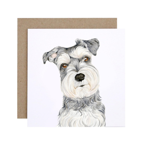 For Me By Dee Greeting Card - Chloe the Schnauzer