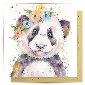 La La Land Greeting Card - Pretty Panda