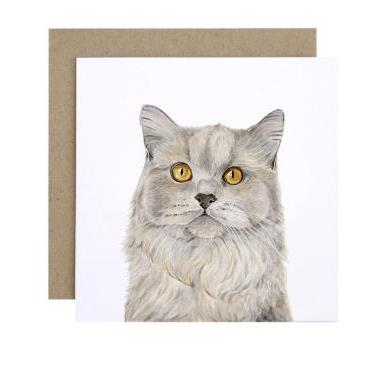 For Me By Dee Greeting Card - Otto the British Short Hair Cat