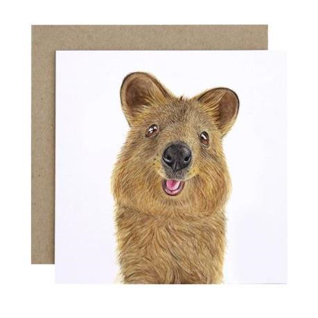 For Me By Dee Greeting Card - Quentin the Quokka