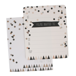 hiPP Invitation Set - Confetti Black & Gold