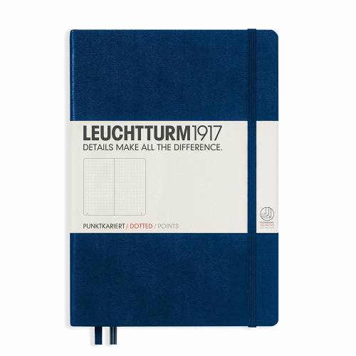 Leuchtturm1917 Notebook - Dotted, A5, Navy | Leuchtturm1917 | Paperpoint Stationery South Melbourne