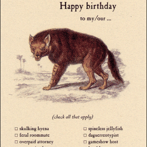 Archelaus Happy Birthday to my/our... Skulking Hyena | Archelaus | Paperpoint Stationery South Melbourne