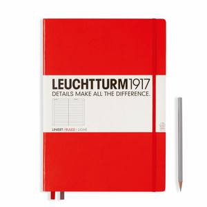 Leuchtturm1917 Notebook - Ruled, A4+, Red | Leuchtturm1917 | Paperpoint Stationery South Melbourne