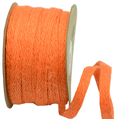 Ribbon: 10mm Jute Tape - Orange (per metre)