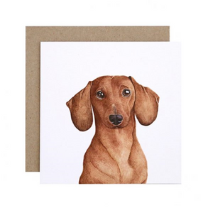 Duke the Dachshund Greeting Card | For Me By Dee | Paperpoint Stationery South Melbourne