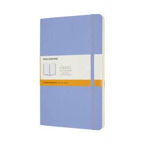 Moleskine Soft Cover Notebook - Ruled, Large, Hydrangea Blue