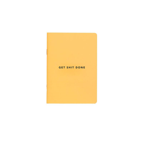 MiGoals Get Shit Done Notebook - A6, Minimal, Yellow/Black | MiGoals | Paperpoint Stationery South Melbourne