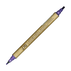 Kuretake Zig Calligraphy Dual Tip Metallic Marker - Purple | Zig | Paperpoint Stationery South Melbourne