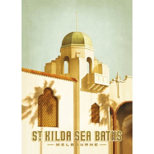 Harper & Charlie Postcard - St Kilda Sea Baths