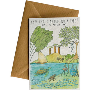 Little Difference Greeting Card - Madagascar Tree