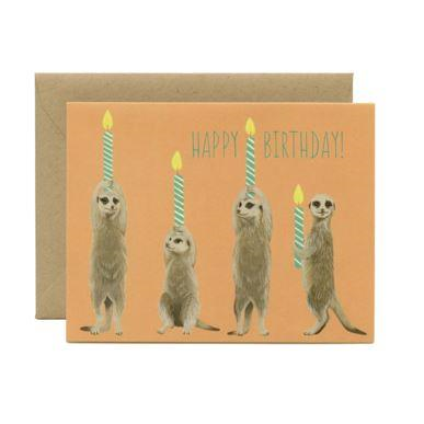 Yeppie Paper Greeting Card - Meerkat Birthday