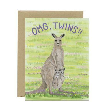 Yeppie Paper Greeting Card - OMG Twins