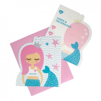 hiPP Invitation Set - Mermaid | HiPP | Paperpoint Stationery South Melbourne