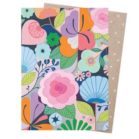 Claire Ishino Greeting Card - Full Bloom | Earth Greetings | Paperpoint Stationery South Melbourne