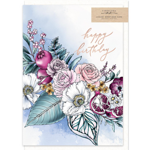 Typoflora Greeting Card - Poppies Birthday | Typoflora | Paperpoint Stationery South Melbourne